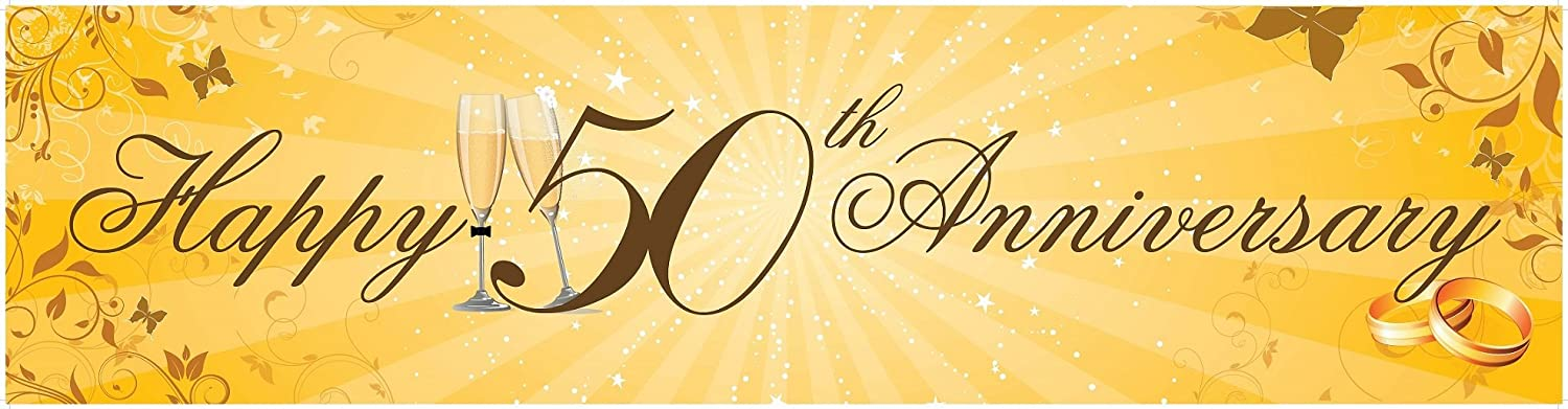 3 X Giant Party Banner Happy 50th