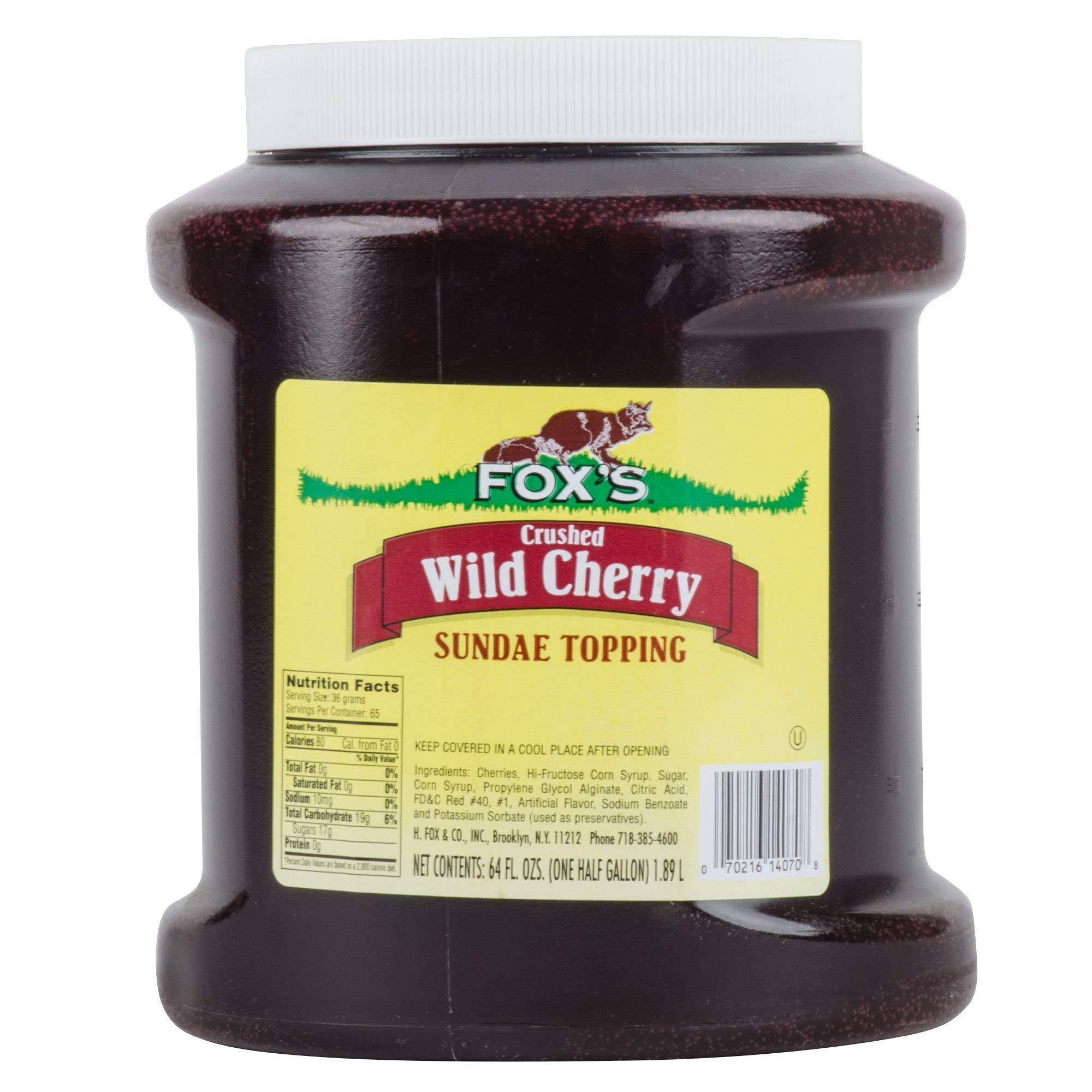 TableTop King 1/2 Gallon Cherry Ice Cream Sundae Topping - 6/Case
