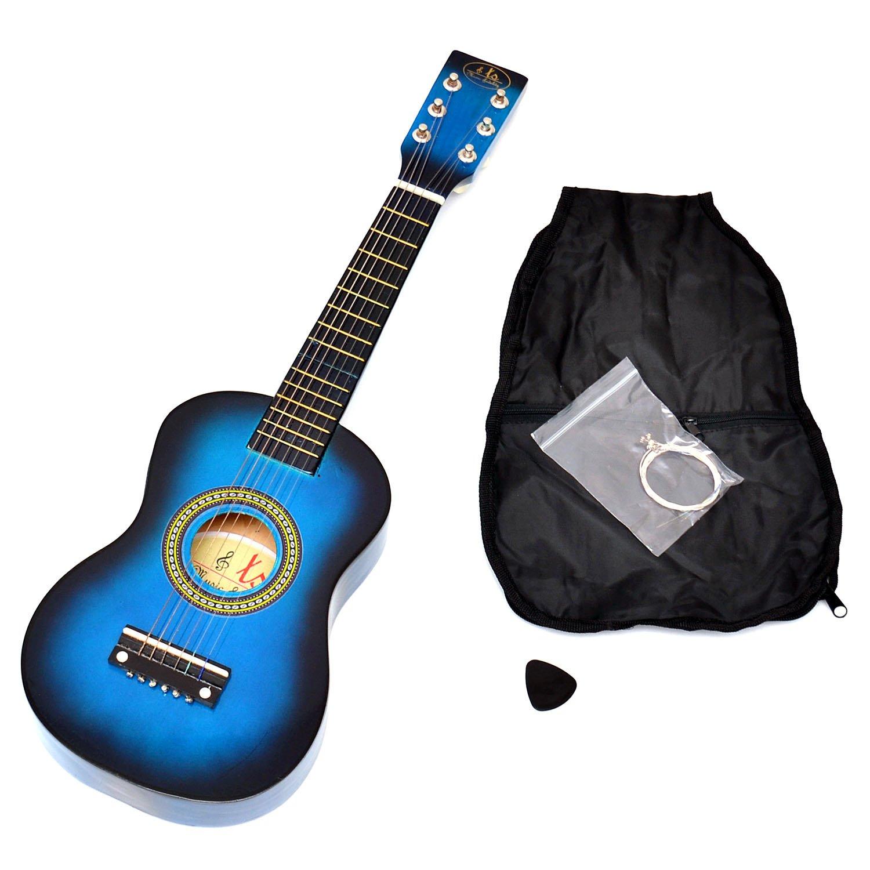 Kinder Gitarre Spielzeuggitarre aus Holz 54 cm in Rot ab 3 Jahre mit Tasche und Ersatzsaiten ts-ideen