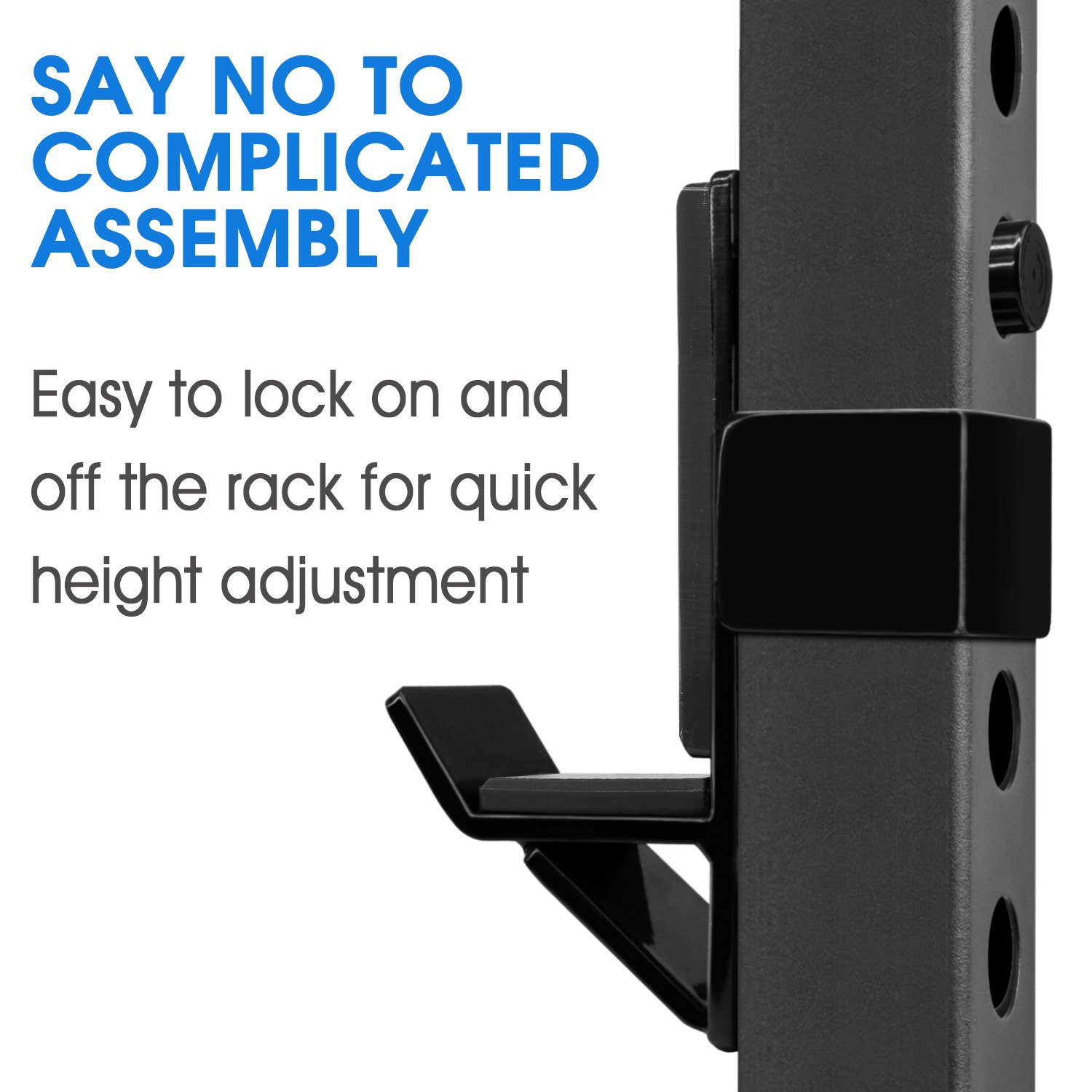 Yes4All Pair of J Hooks for Power Rack, Squat Rack - J Hook Weight Rack (2 inch Square Tube) by Yes4All (Image #5)
