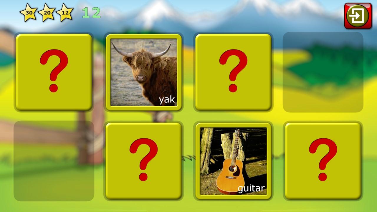 Palabra preescolar ABC y foto puzzles - enseña lectura de