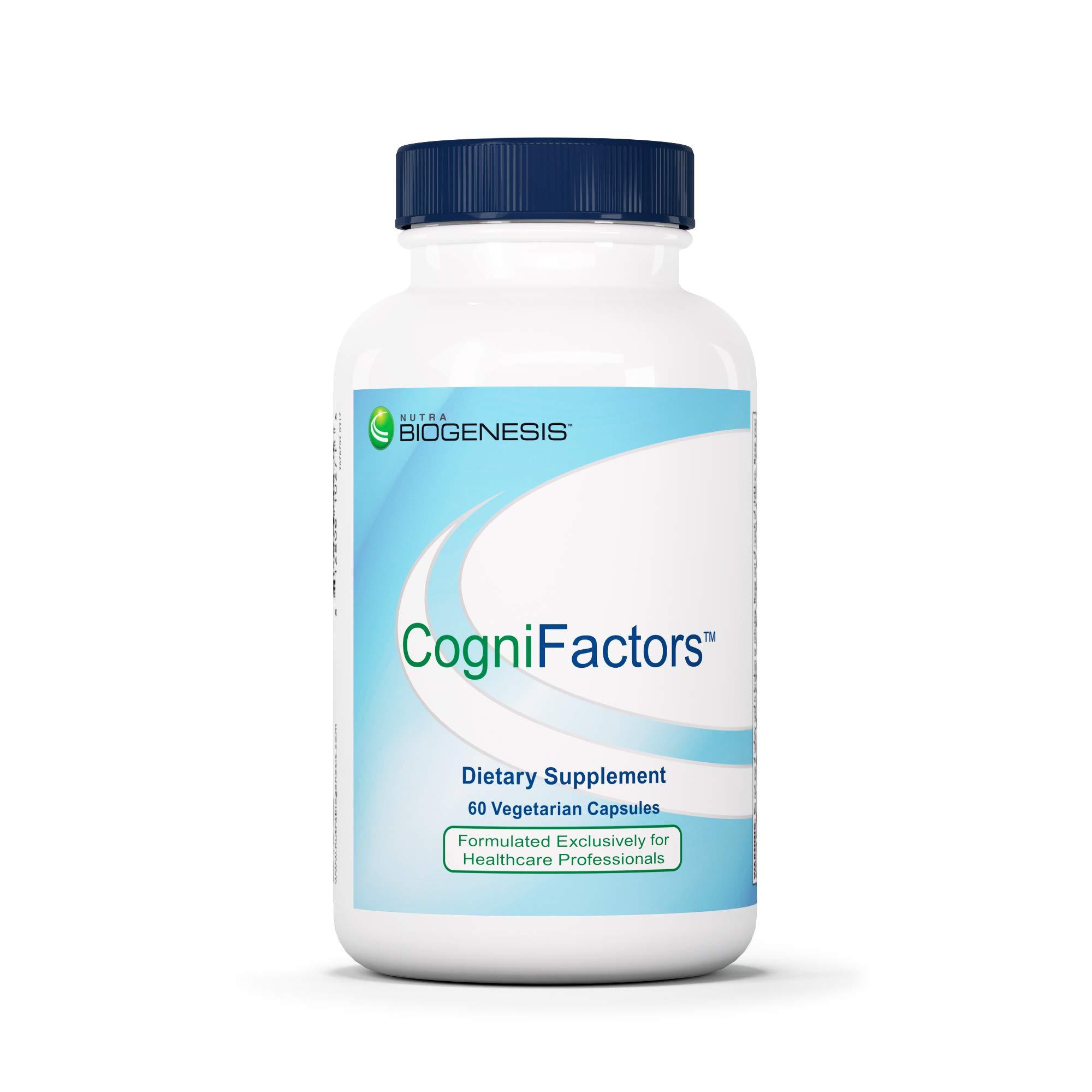 Nutra BioGenesis CogniFactors - Ginkgo Biloba, Phosphatidylserine and DMAE to Help Support Cognitive Function, Memory and Focus - Gluten Free, Vegan, Non-GMO - 60 Capsules