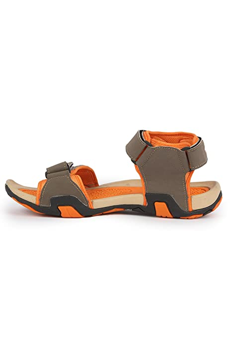 Mmojah Mens Easy-48 Grey/Orang Sandal -9