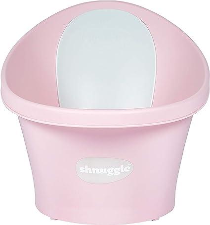 Shnuggle Baby Bath Tub Cosy Foam Backrest Bum Bump Support Bathing Washing Pink