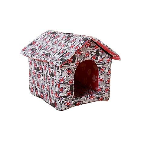 Aurantiaco - Cama de iglú para Mascotas, Impermeable, Suave y Plegable