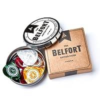 Belfort 16 hochwertige Plektren für Gitarre in edler Box ★ Gitarren Plektrum aus extrem robustem Celluloid ★ 4 verschiedene Stärken: 0.46-1.20mm   BONUS: Gratis Ebook