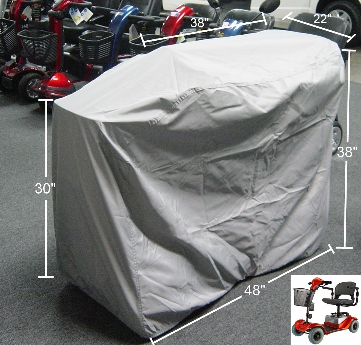 "Formosa Covers Mobility Scooter Storage Cover 48""L x 22""D x 38""H"