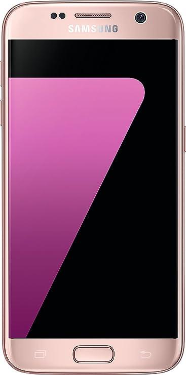 Samsung Galaxy S7 Smartphone (12,92 cm (5,1 Zoll) Touch-Display, 32GB interner Speicher, Android OS) pink (Zertifiziert und G