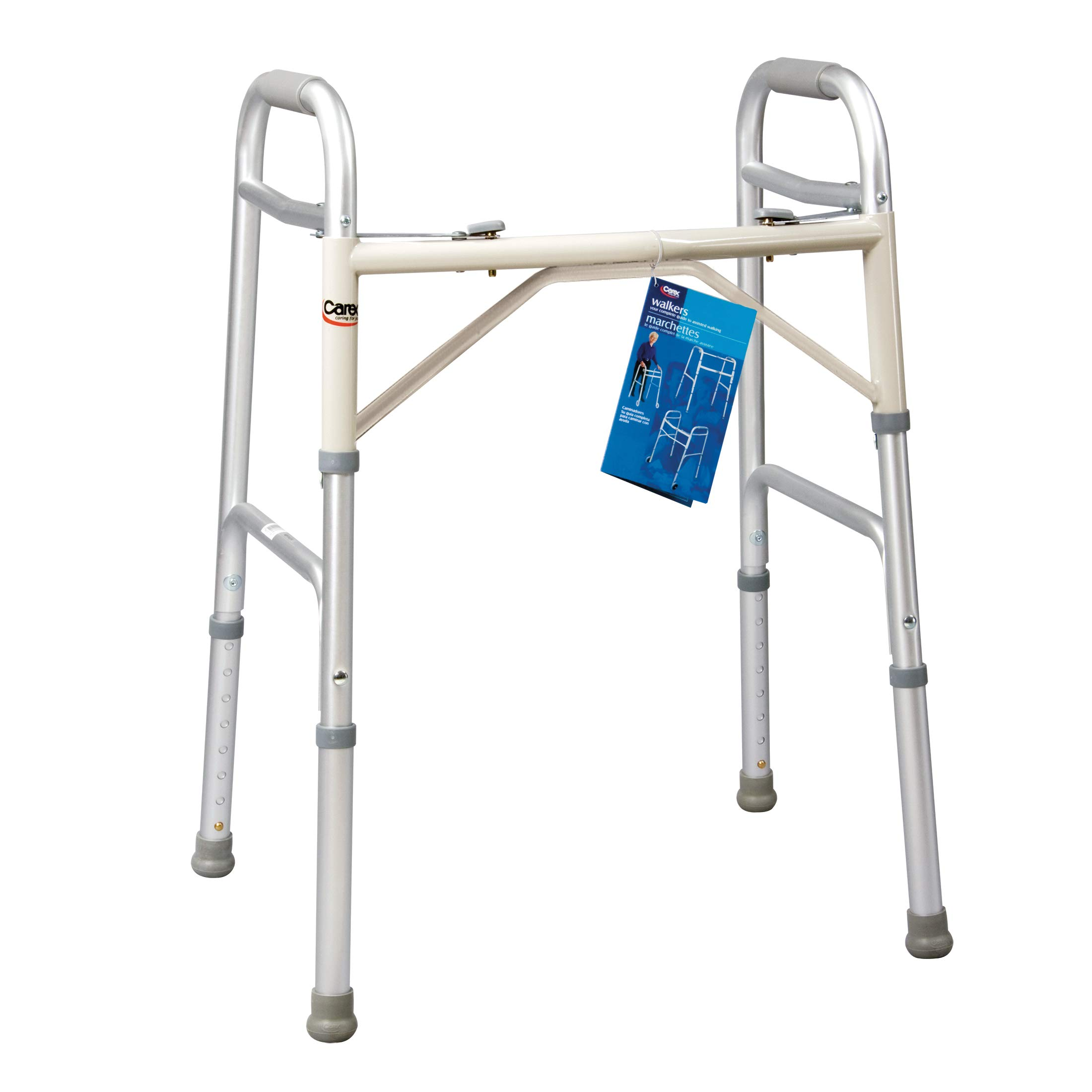 Carex Dual Paddle Folding Walker, Adult by Carex Health Brands
