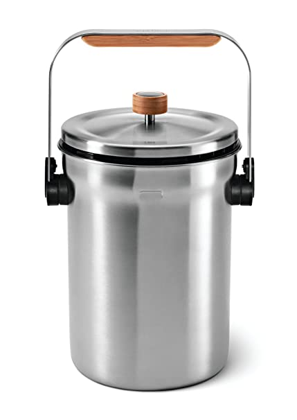 Simplehuman Compost Pail, Stainless Steel