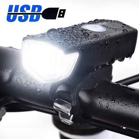 Eximtrade USB Recargable Bici Bicicleta Flash Luz Delantera 3 ...