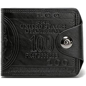 67bfef48708 Men s Novelty US 100 Dollar Wallet Bill Money Billfold Safe Purse With  Magnetic Buckle-Sibalasi