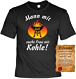 Mann mit Grill sucht Frau mit Kohle! - - T-Shirt zum Grillen - - passendes Geschenk für den Grillchef