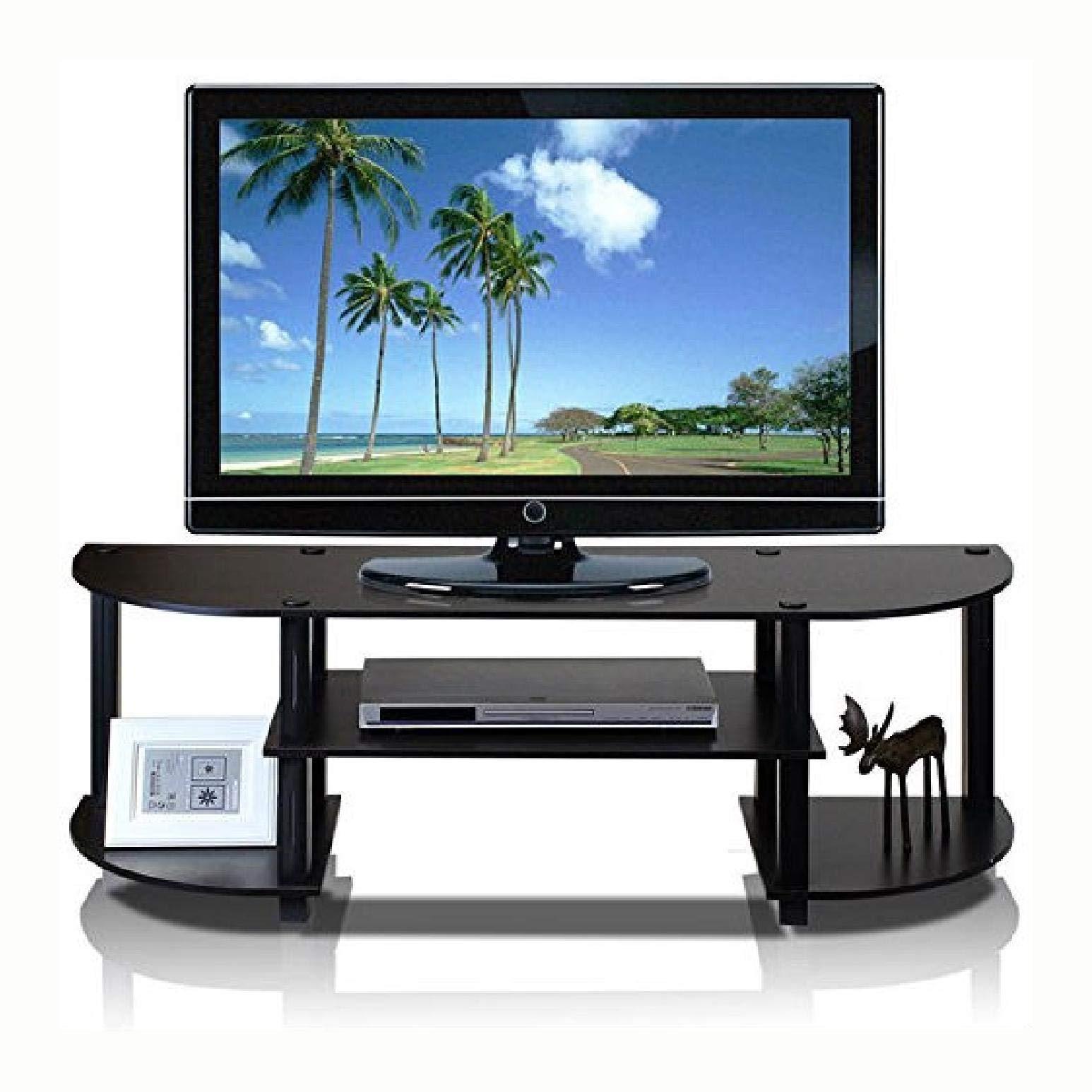 Espresso & Black TV Stand Entertainment Center - Fit up to 42 - inch TV, Espresso & Black TV Stand Entertainment Center - Fits up to 42-inch TV