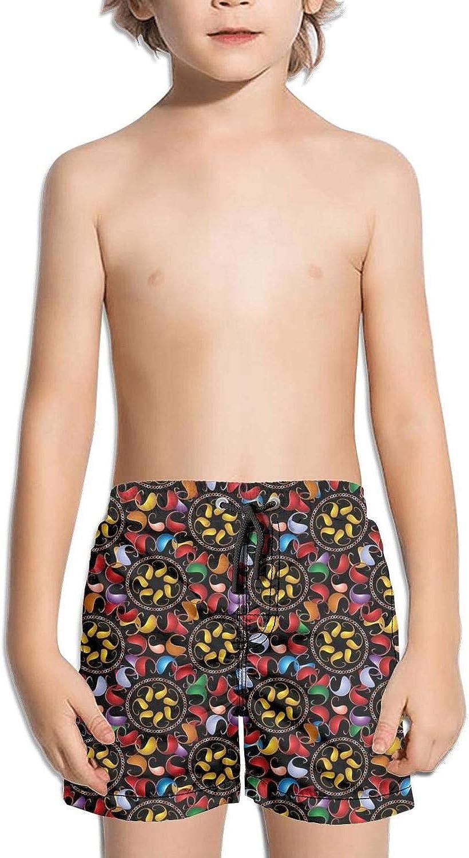 supiocv Colorful Paisley Bright Childrens Board Shorts Traininglight and comfortablefloral Shorts Beachshorts