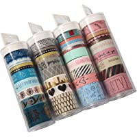 Washi Tape Set of 40 Rolls, Decorative Masking Tape Collection for DIY Crafts, Scrapbooking, Bullet Journal,Day Planner and Gift Wrapping