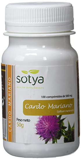 SOTYA - SOTYA Cardo Mariano 100 comprimidos 500 mg: Amazon.es: Salud y cuidado personal