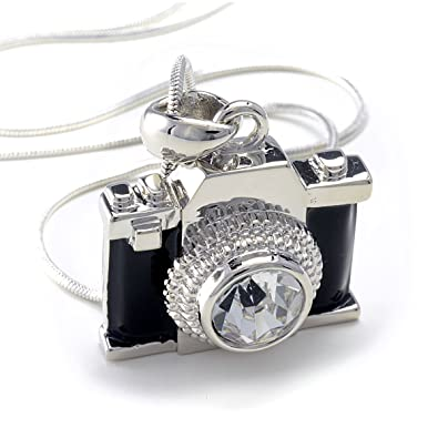 on elegant all diamond camera standard products us lux cubic collections shipping large zirconia direct necklace silver free photography sterling orders