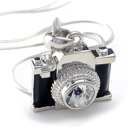 クリスタルストラップ付カメラペンダント