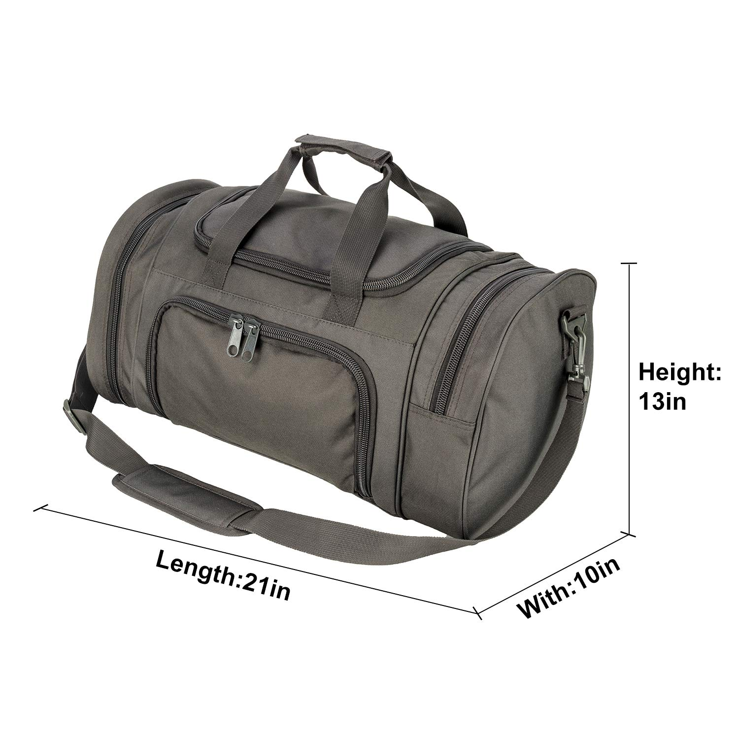 5d716c2eb6 Amazon.com  WolfWarriorX Men Military Tactical Locker Duffel Bags with  Shoes Compartment Large Storage Lightweight Workout Travel Vocation Hiking  Trekking ...