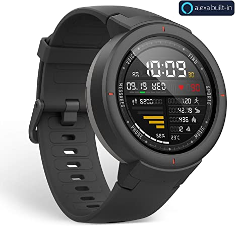 Xiaomi Huami Amazfit Verge A1811- Smart Watch Onyx Black: Amazon ...