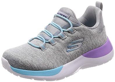 893c2aee30e5 Skechers Kids Girls  Dynamight-Break-Through Sneaker Grey Multi 1 Medium US