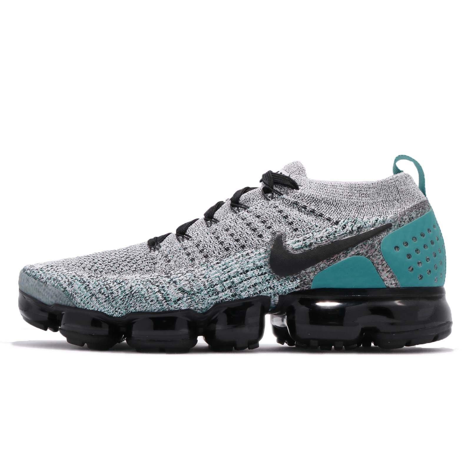 Nike Air Vapor Max Flyknit 2 Men's Shoes White/Black/Dusty Cactus 942842-104 (7 D(M) US)