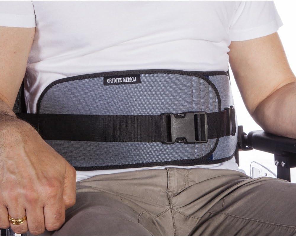 Cinturón abdominal abierto, para silla de ruedas, sillas o sillones, para personas con tendencia a deslizarse del asiento,