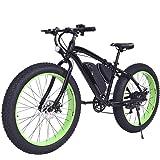 Goplus 26'' Electric Mountain Bike Snow Beach Bicycle Fat Tire Bike w/ Lithium Battery 36V 350W E-bike