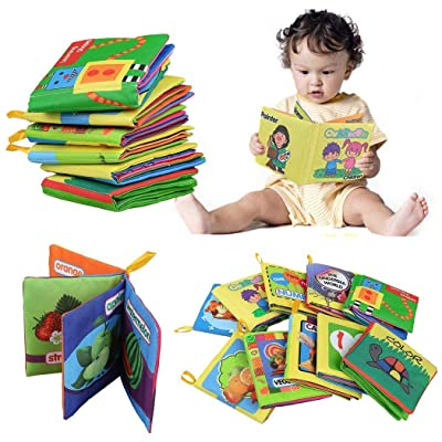 Justew Baby Book,Early Learning Intelligence Development Cloth Crinkle Fabric Book Educational Toy Games: Toys & Games [5Bkhe0506648]