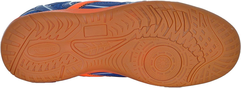 blau//orange Ind-Schuh Courtplayer Jr