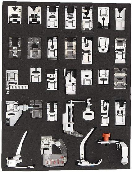 CLEANA artes hogar costura partes 32 piezas pies prensatelas coser ...