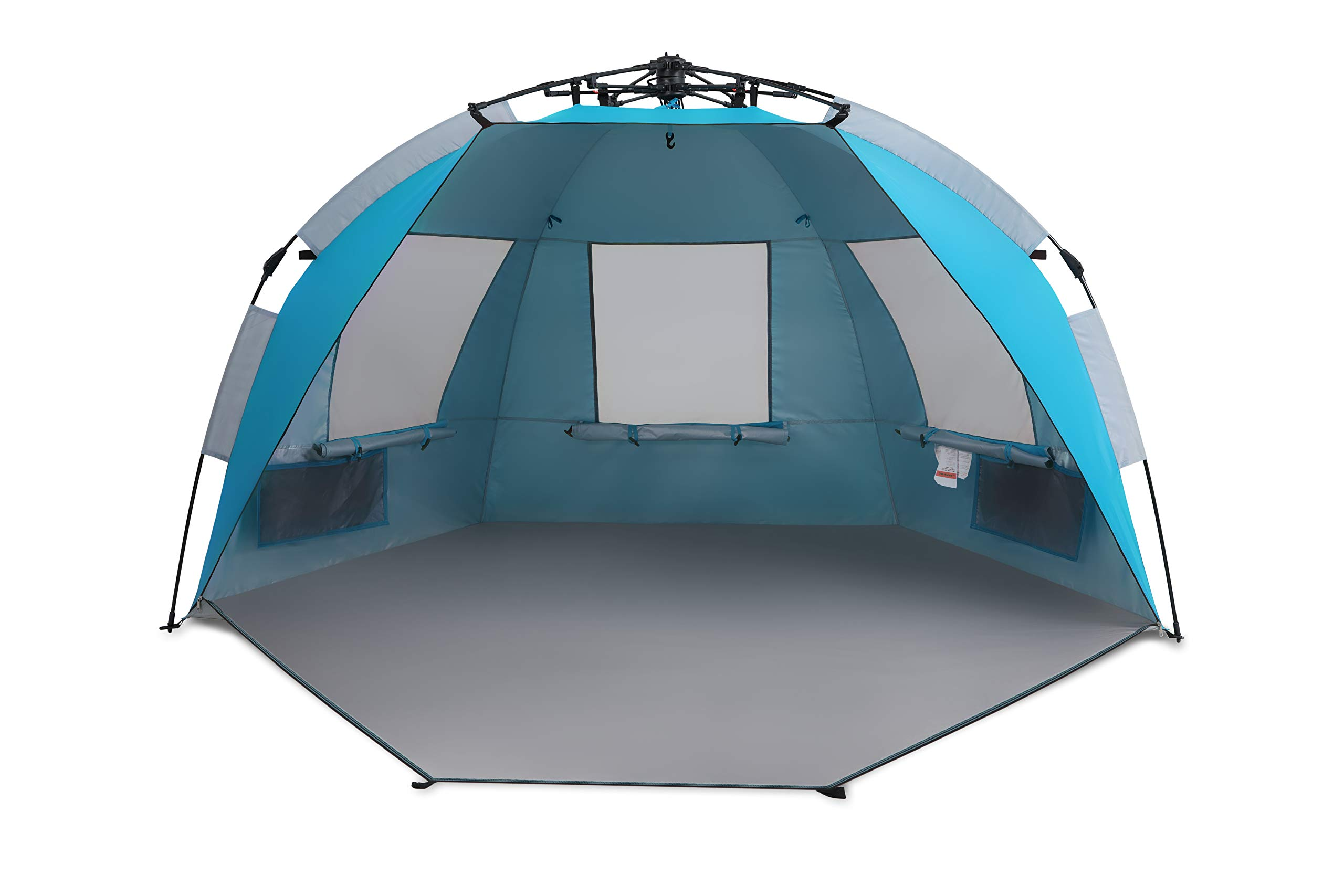 ALPHA CAMP Easy Setup Beach Tent Shade Instant Sun Shelter-Extended Zippered Porch Included