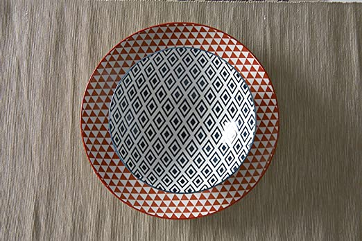 Fill 21330 Althea Collection Set of 4 Stoneware Plates Tableware Red Crackle