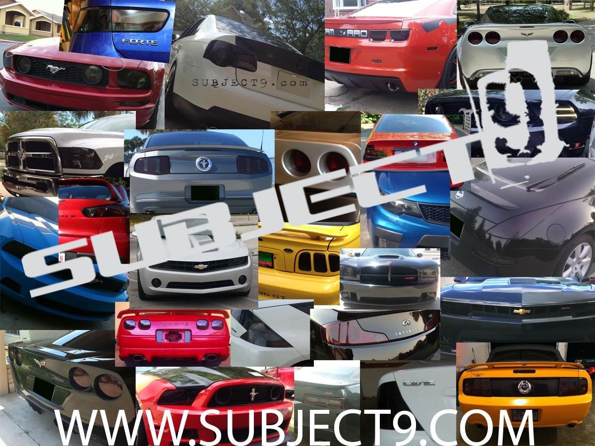 Subject 9 Pre-cut vinyl overlay headlight PLUS tint Sedan 2008 2009 2010 2011 2012 Fits: Accord LIGHT