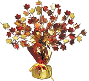 Fall Leaves Gleam 'N Burst Centerpiece Party Accessory (1 count) (1/Pkg)