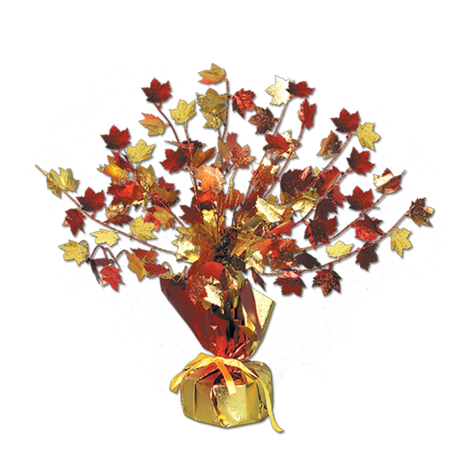 Beistle 1-Pack Decorative Fall Leaves Gleam and Burst Centerpiece, 15-Inch The Beistle Company 90805