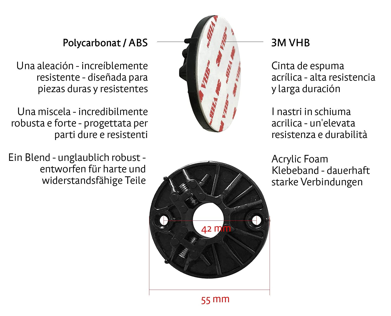 de poludo Acero Inoxidable y pl/ástico ABS 3M VHB Montaje en Pared con Cinta Adhesiva Autoadhesivo Kapitan Toallero para el ba/ño 50 cm
