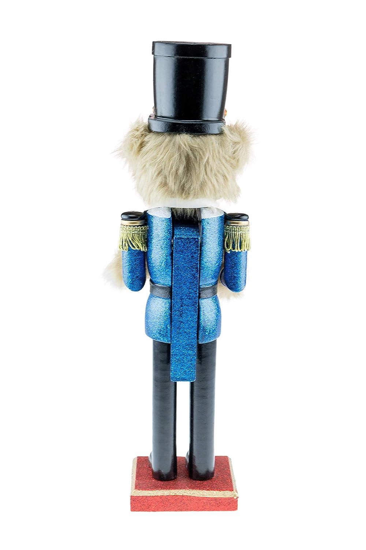 Ours en Peluche en Uniforme avec Tambour Clever Creations 38 cm Casse-Noisettes id/éal pour Une /étag/ère//Table d/écoration de f/êtes