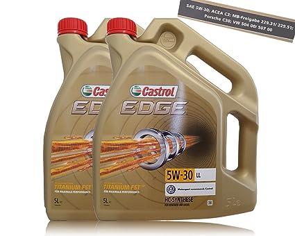 2 bidones de 5 litros de aceite para motor Castrol Edge Titanium ...