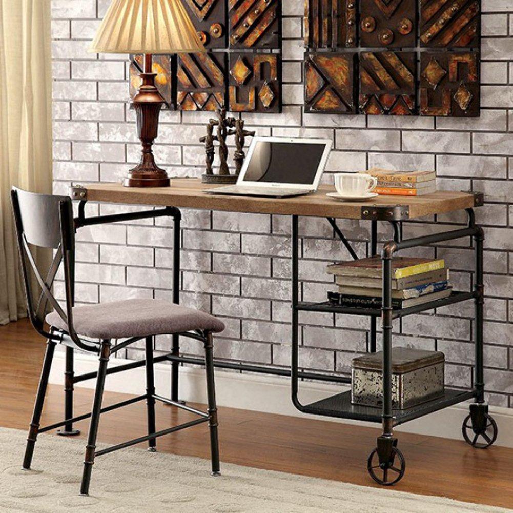Furniture of America CM-DK6913 Olga I Antique Black Desk Writing