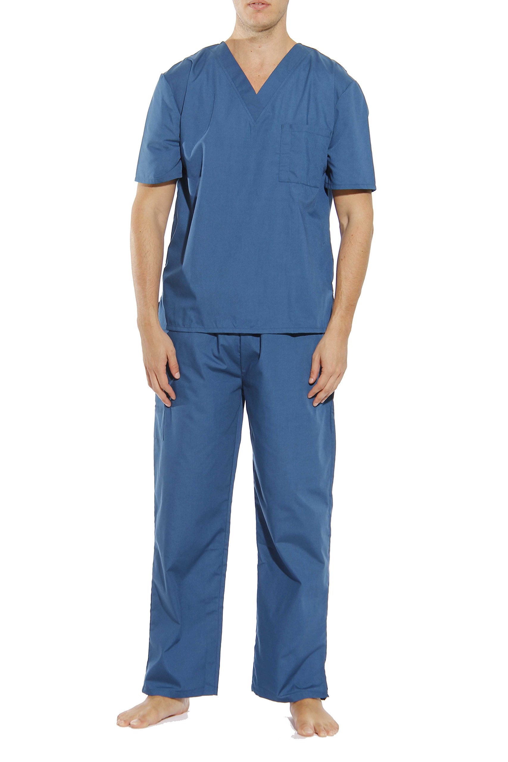 33000M-Carribean Blue-M Tropi Unisex Scrub Sets / Medical Scrubs / Nursing Scrubs