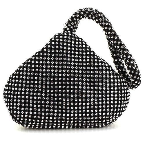 Meeto Fashion Womens Glitter Clutch Bag Crystal Diamante Sparkly Silver Evening  Bag Bridal Prom Party Handbag ae3ebebefc7b