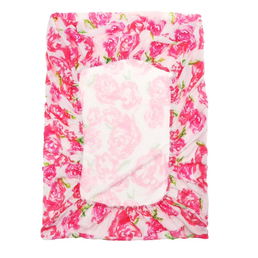 as described Pink rose Homyl Stretchy Baby Summer Reusable Diaper Change Table Pad Covers for Girls Boys