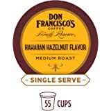 Don Francisco's Hawaiian Hazelnut Flavored (55 Count) Recyclable Single-Serve Coffee Pods, Compatible with Keurig K-Cup Brewers