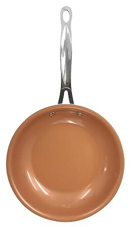 bébé les ventes en gros San Francisco GOTHAM STEEL COPPER La poêle ronde en Céramique/Titane Noir 24 x 24 x 5 cm  - Vu à la Télé