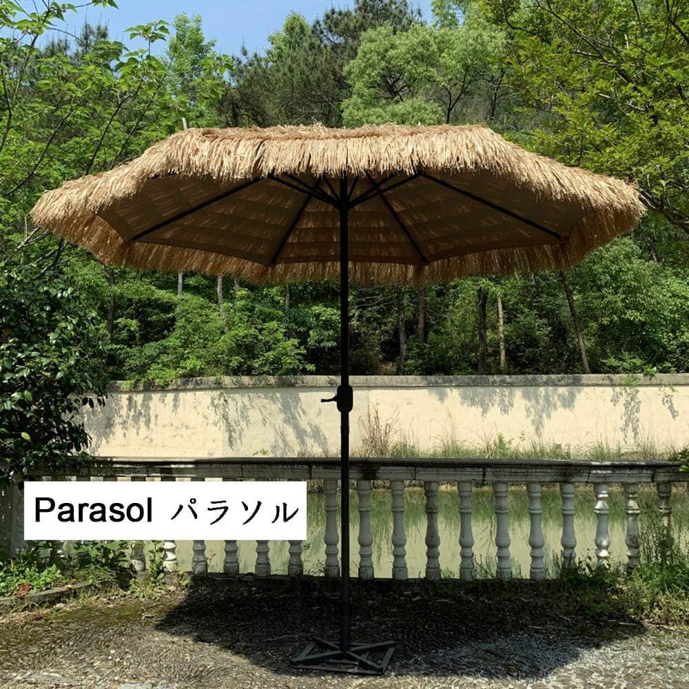 HRXQ Sombrilla Playa De Paja,Sombrillas Terraza De para Terraza Jardín Patio Protección Solar UV Sombrilla Parasol Ø 270 Cm,Costiila De Fibra De Vidrio