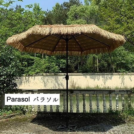 HRXQ Sombrilla Playa De Paja,Sombrillas Terraza De para Terraza Jardín Patio Protección Solar UV Sombrilla Parasol Ø 270 Cm,Costiila De Fibra De Vidrio: Amazon.es: Hogar