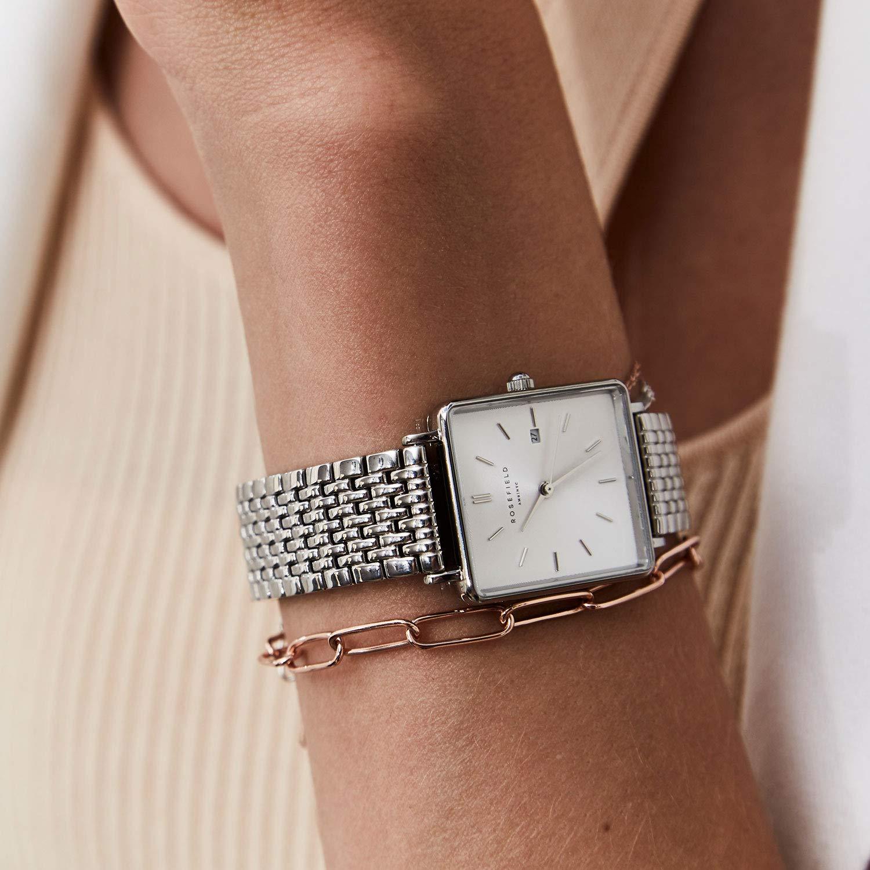 Rosefield Reloj Analógico para Mujer de Cuarzo con Correa en Acero Inoxidable QWSS-Q08: Amazon.es: Relojes