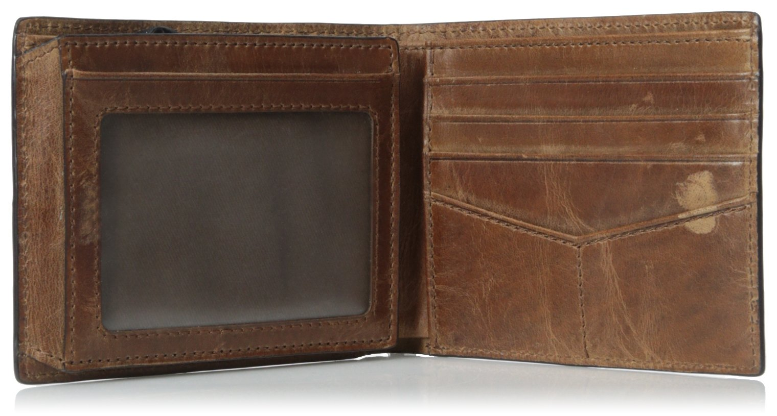 Fossil Men's RFID Flip ID Bifold Wallet, Brown, One Size by Fossil (Image #4)